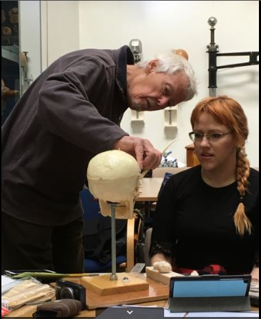 Facial reconstruction workshop with Richard Neave, Medical art, Medical Artists' Education Trust. Catherine Sulzmann