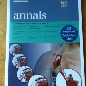 Royal College of Surgeons of England Annals front cover, medical art, medical illustration, Catherine Sulzmann