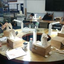 Anatomical wax reconstruction workshop. Shoulder joint. Medical art, Medical Artists' Education Trust. Catherine Sulzmann