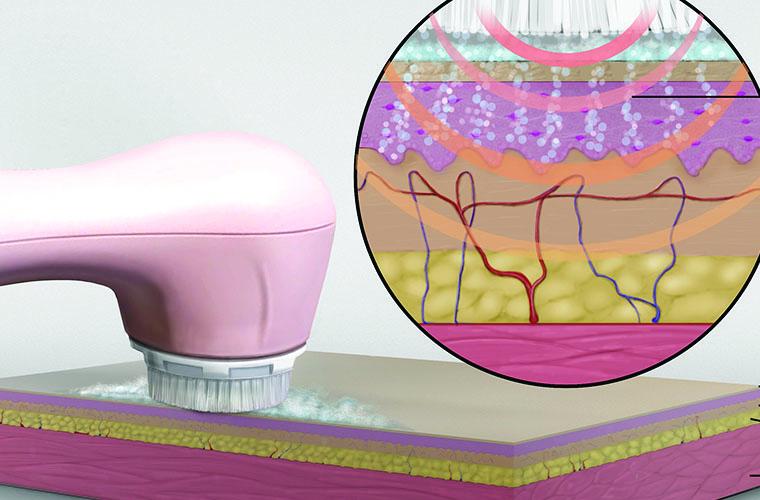 Clarasonic skin care Medical illustration